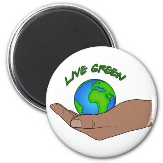 live green 2 inch round magnet