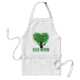 Live Green Abstract Tree Adult Apron