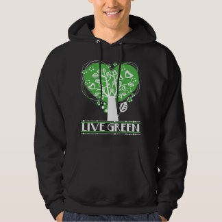 Live Green Abstract Tree Hoodie