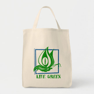 Live Green Butterfly Blue Organic Tote Bag