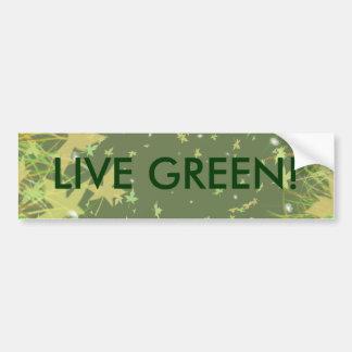 LIVE GREEN! CAR BUMPER STICKER