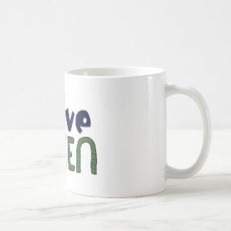 LIVE GREEN CLASSIC WHITE COFFEE MUG