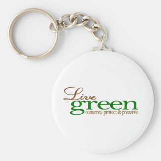 Live Green Conserve Keychain