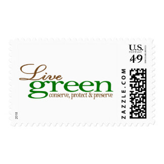 Live Green Conserve Stamps