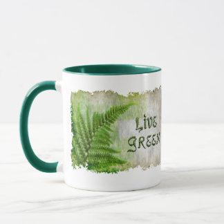LIVE GREEN Eco Enviro Drinking Mug for Earth Day