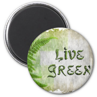 LIVE GREEN Eco Enviro Gift Items for Earth Day 2 Inch Round Magnet
