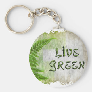 LIVE GREEN Eco Enviro Gift Items for Earth Day Keychain