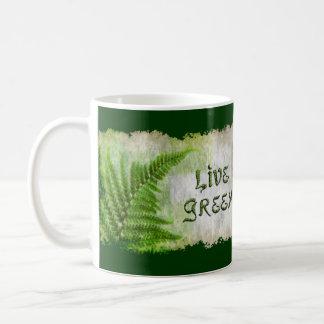 LIVE GREEN Eco Enviro Gift Items for Earth Day Coffee Mug