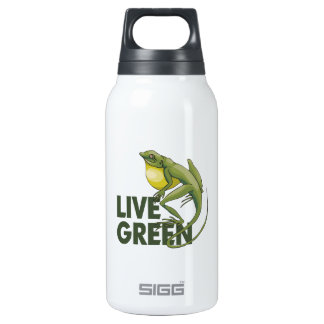 Live Green, Eco Insulated Water Bottle