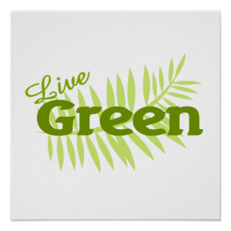 live green fern poster
