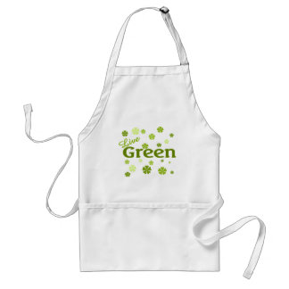 live green flowers adult apron