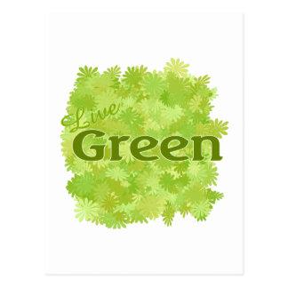 live green flowers postcard