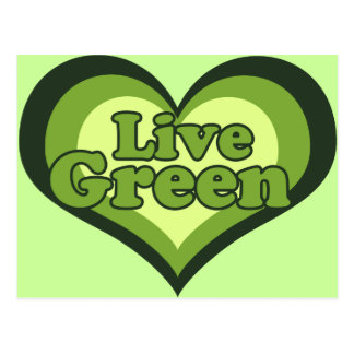 Live Green for Eath Day Post Cards