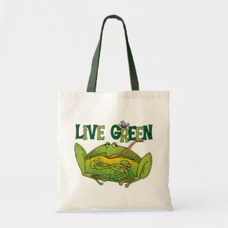 Live Green Frog Canvas Bags