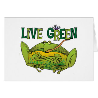 Live Green Frog Greeting Card