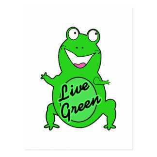 Live Green Froggie Postcard
