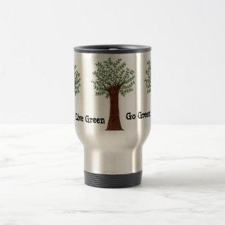 Live Green, Go Green 15 Oz Stainless Steel Travel Mug