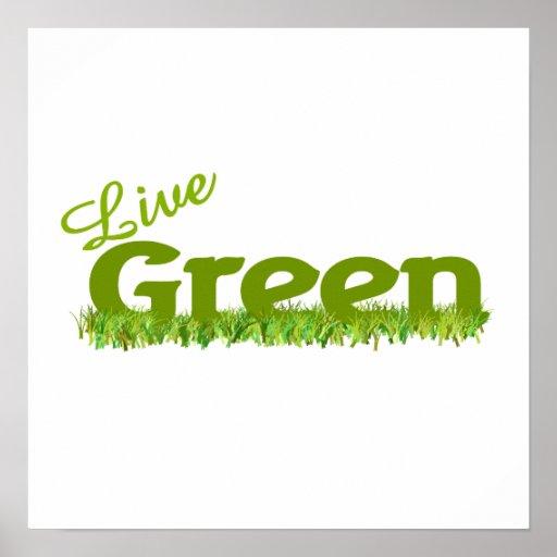 live green grass poster