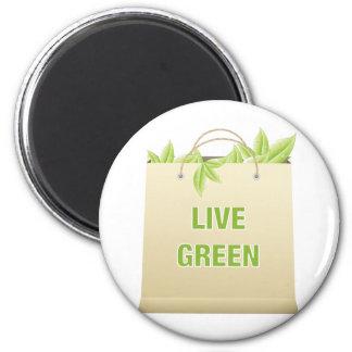 Live Green ~ Green Life Style Saves Money Fridge Magnets
