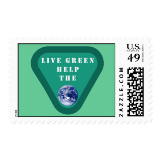 Live Green Help The Planet Postage
