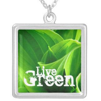 Live Green Hosta Pendant