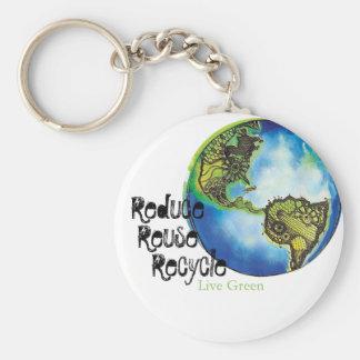 Live Green Keychain