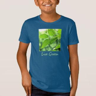 'Live Green' Kids' Organic T-shirt