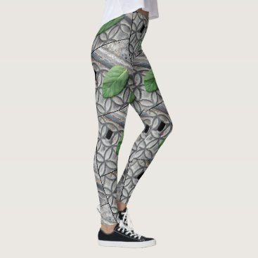 Live Green Leaf 2  Custom Leggings by Yotigo