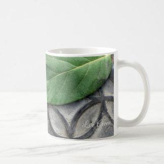 Live Green – Leaf & Pattern Coffee Mug by Yotigo