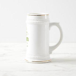 live green leaves coffee mug