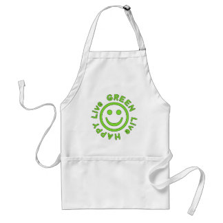 Live Green Live Happy Pro Environment Eco Friendly Adult Apron