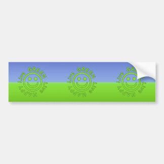 Live Green Live Happy Pro Environment Eco Friendly Bumper Sticker