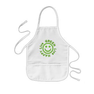 Live Green Live Happy Pro Environment Eco Friendly Kids' Apron