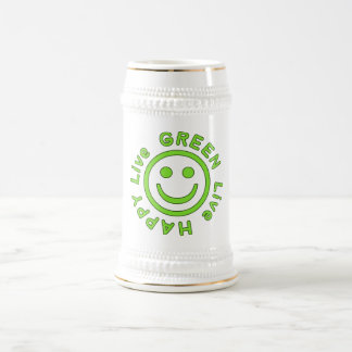 Live Green Live Happy Pro Environment Eco Friendly 18 Oz Beer Stein