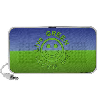 Live Green Live Happy Pro Environment Eco Friendly Notebook Speaker