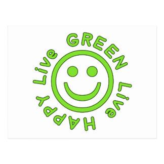 Live Green Live Happy Pro Environment Eco Friendly Postcard