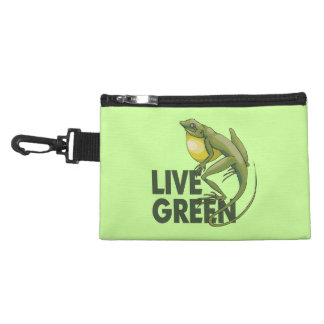 Live Green, Lizard Accessory Bag
