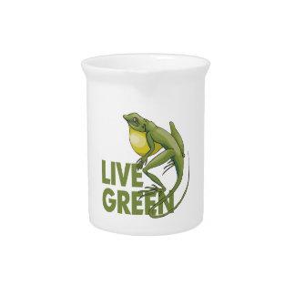 Live Green, Lizard Drink Pitchers