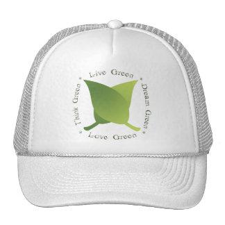 Live green, Love green, Think green, Dream green Trucker Hat