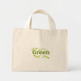 live green mini tote bag