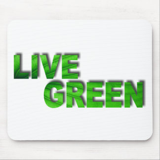 Live Green Mouse Pad