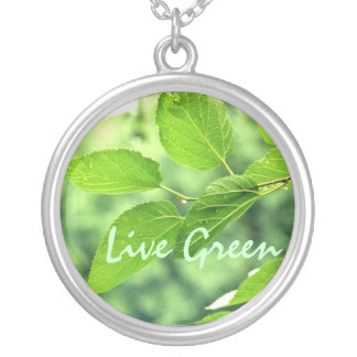 'Live Green' Necklace
