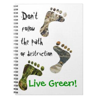 Live Green! Notebook