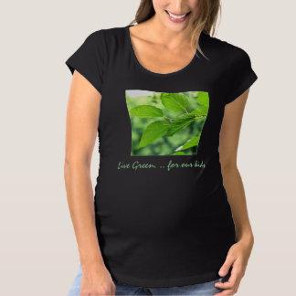 'Live Green' Organic Maternity T-shirt