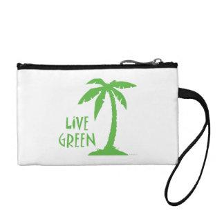 Live Green Palm Change Purse