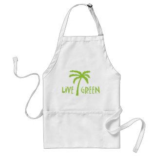 Live Green Palm Tree Environmental Adult Apron