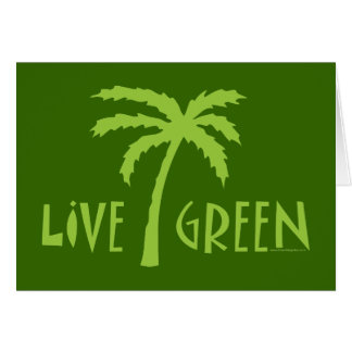 Live Green Palm Tree Environmental Card