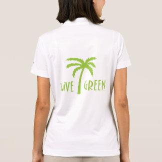 Live Green Palm Tree Environmental Polo Shirt