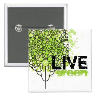 Live Green Pinback Button