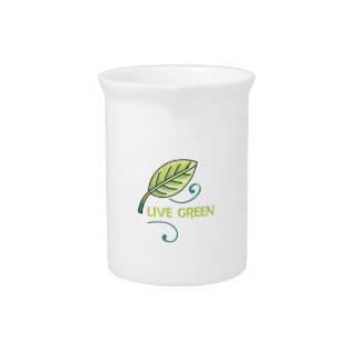 LIVE GREEN DRINK PITCHERS